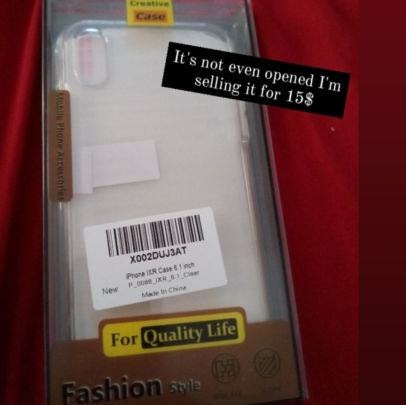 Apple Other - I phone XR case clear